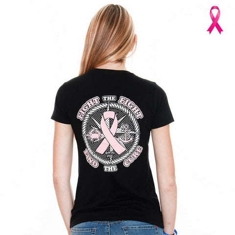 Fight The Fight, Find The Cure (Black) / Ladies Shirt