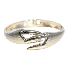 Crab Claw (Gold) / Bangle Bracelet - Route One Apparel