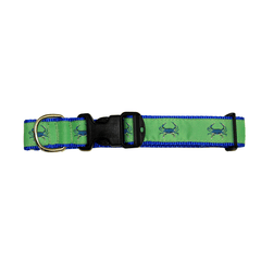 Lime & Blue Crab / Dog Collar