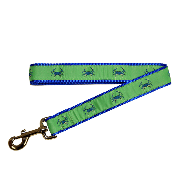 Lime & Blue Crab / Dog Leash