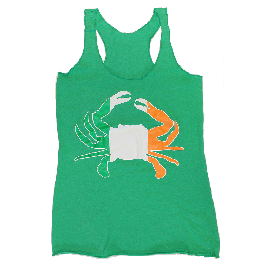 Irish Crab (Green) / Ladies Racerback Tank