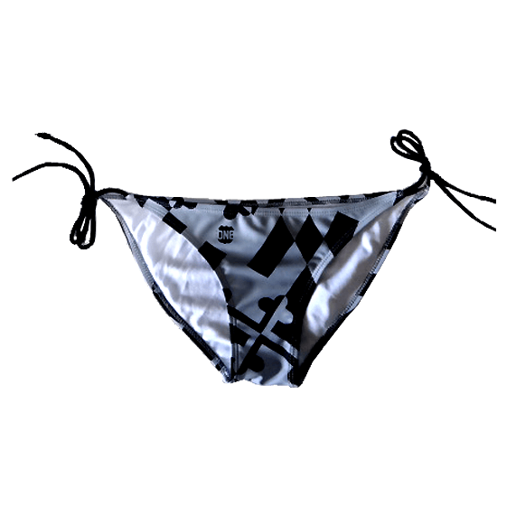 Greyscale Maryland Flag / Bikini Bottom