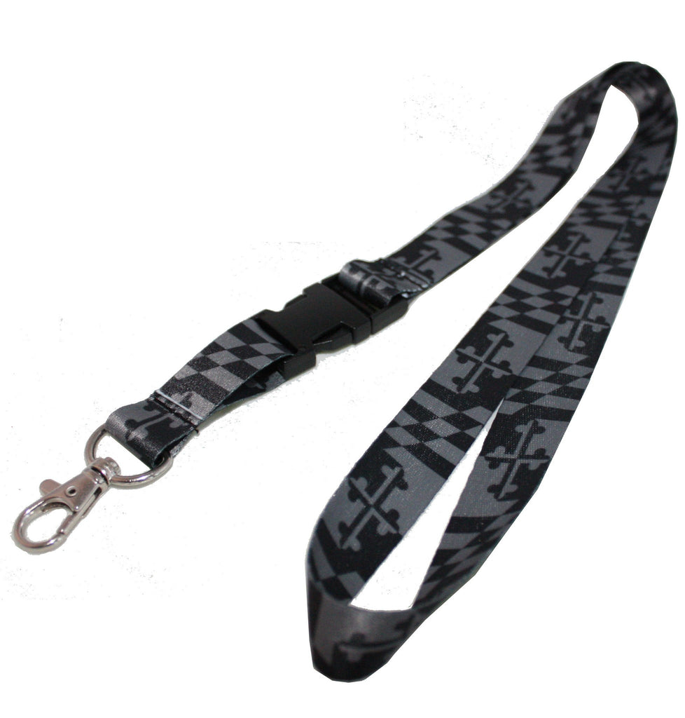 Greyscale Maryland Flag / Lanyard