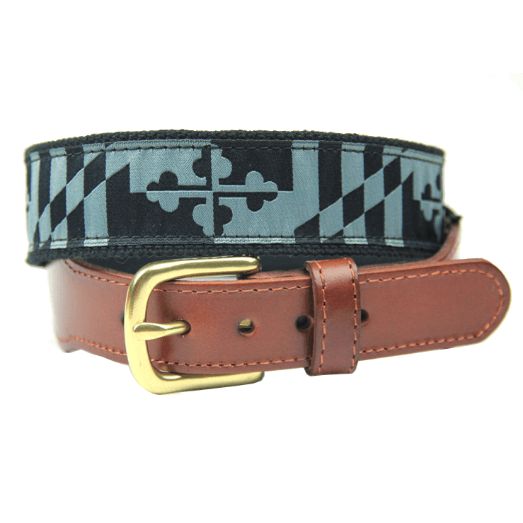 Greyscale Maryland Flag / Belt