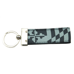 Greyscale Maryland Flag / Key Chain
