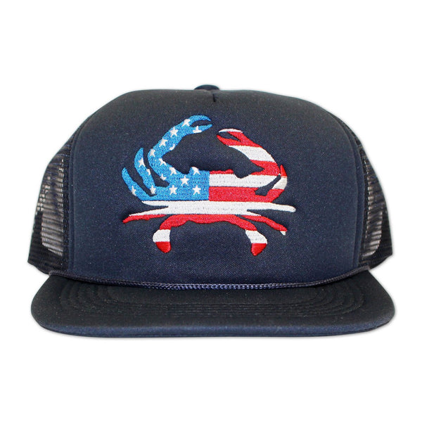 American Flag Crab (Navy) / Trucker Hat