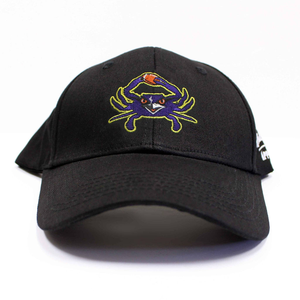 Baltimore Football Purple Crab (Black) / Baseball Hat - Route One Apparel
