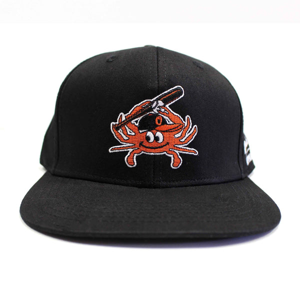 Baltimore Baseball Orange Crab (Black) / Canvas Snapback Hat