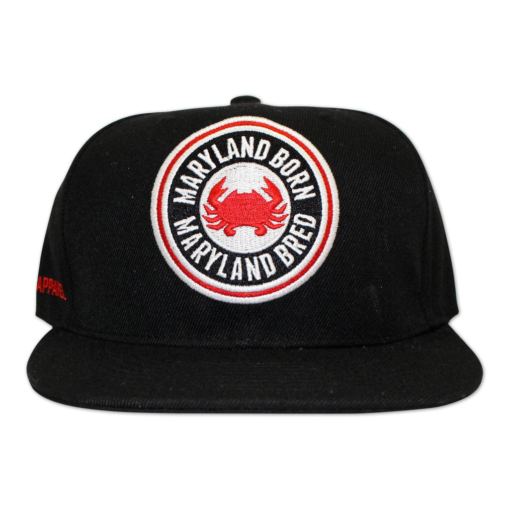 Maryland Born Maryland Bred (Black) / Canvas Snapback Hat