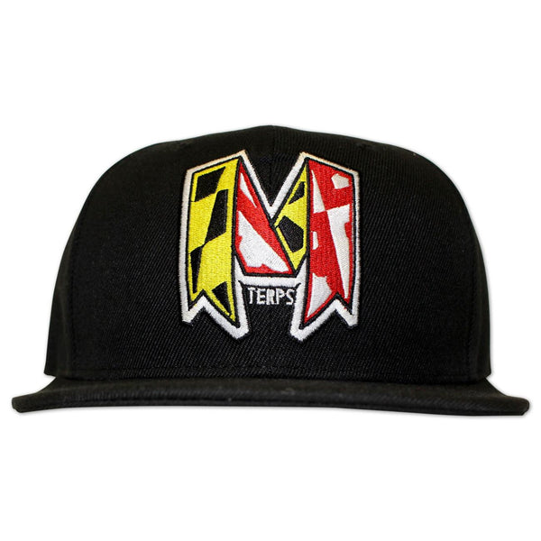 University of Maryland Ribbon (Black) / Snapback Hat
