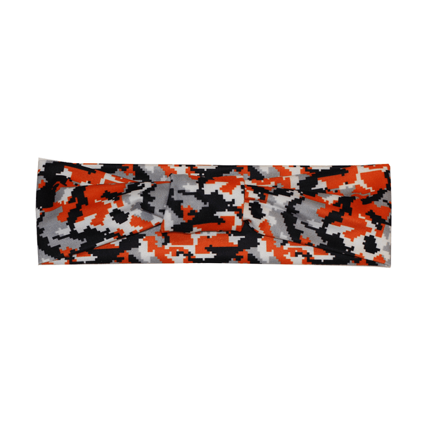 Baltimore Black & Orange Digi Camo / Headband