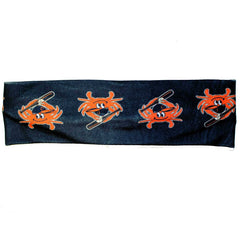 Baseball Orange Crab (Black) / Headband - Route One Apparel
