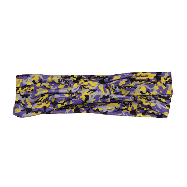 Purple & Gold Branch Camo Maryland Flag / Headband