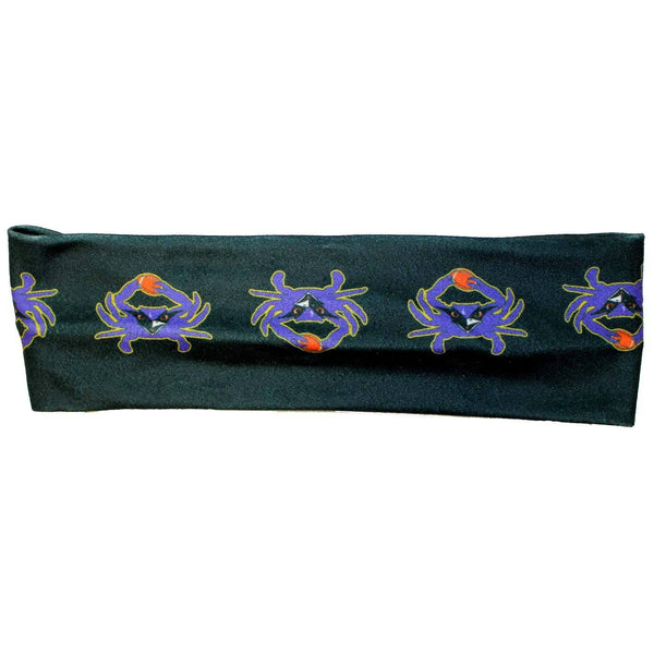 Baltimore Football Crab (Black) / Headband - Route One Apparel