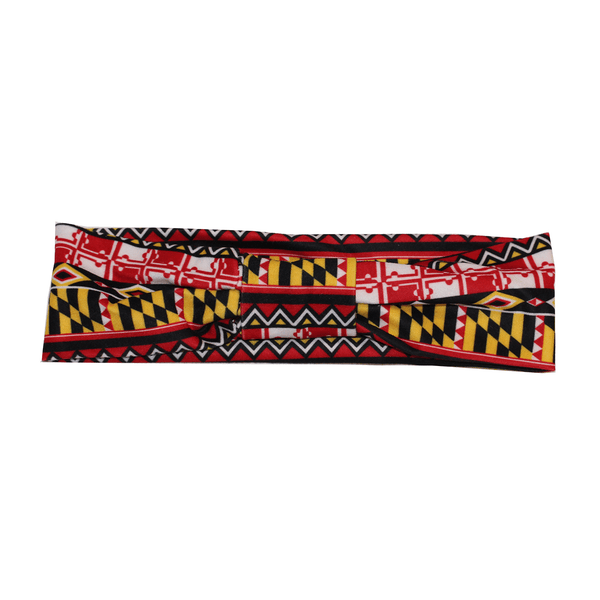 Maryland Flag Geometric Pattern / Headband