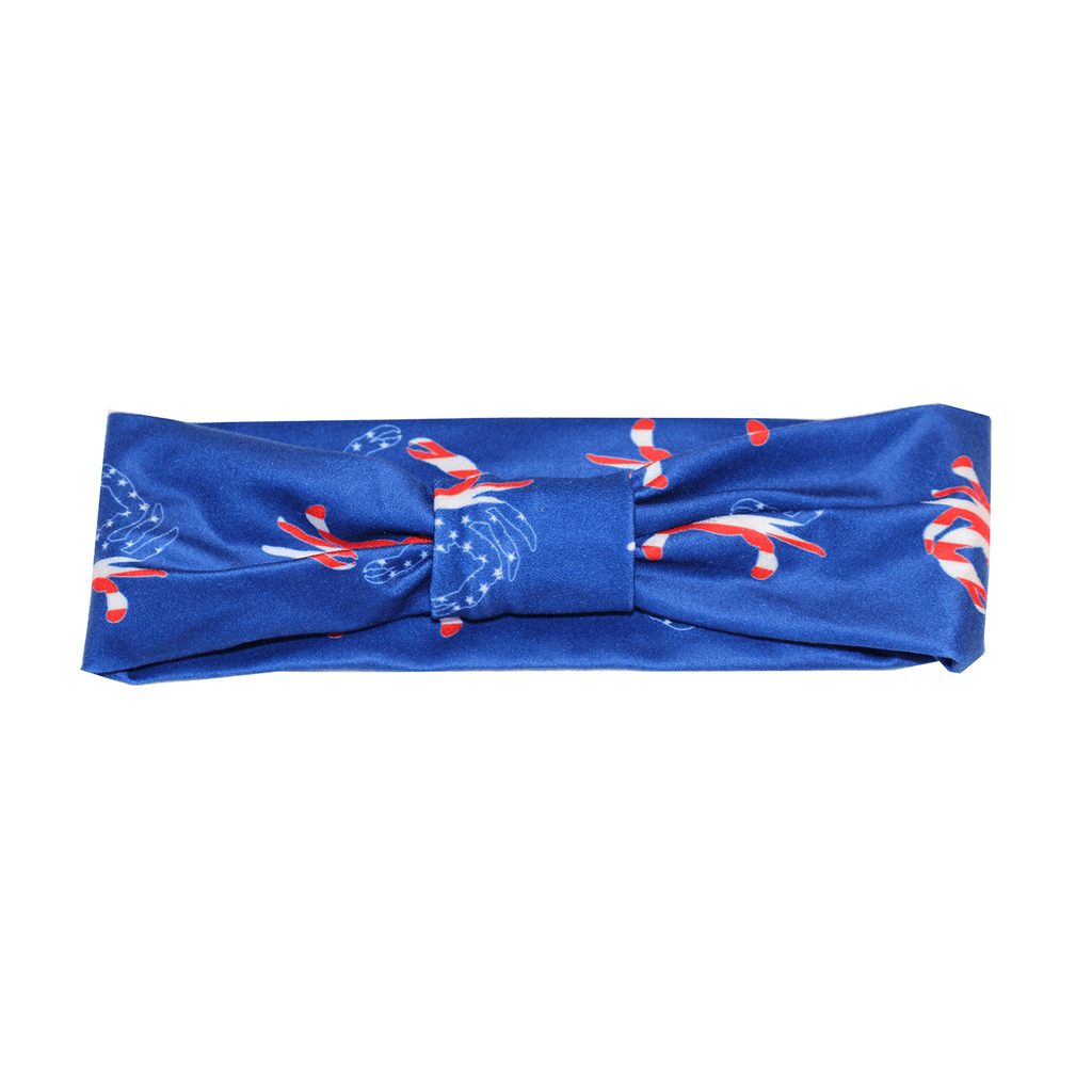 American Flag Crab (Royal Blue) / Headband - Route One Apparel