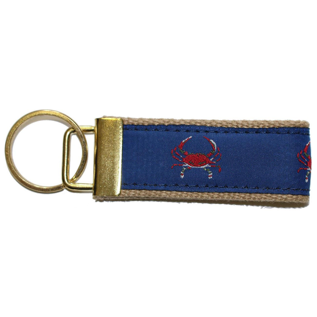 Blue & Red Crab / Key Chain - Route One Apparel