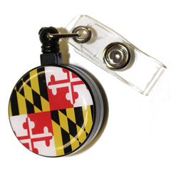 Maryland Flag / Retractable Badge Holder