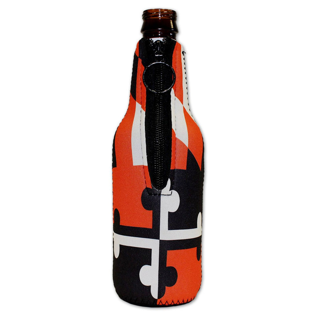 Baltimore Black & Orange Maryland Flag / Bottle Koozie - Route One Apparel