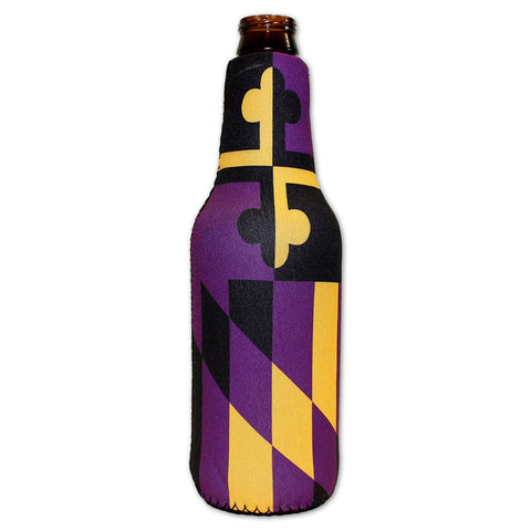 Baltimore Purple & Gold Maryland Flag / Bottle Koozie - Route One Apparel