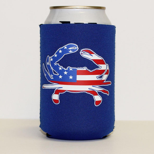American Flag Crab (Blue) / Koozie