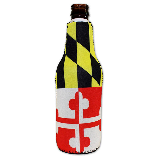 Maryland Flag / Bottle Koozie (With Bottle Opener)