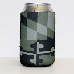 Green Camo Maryland Flag / Koozie