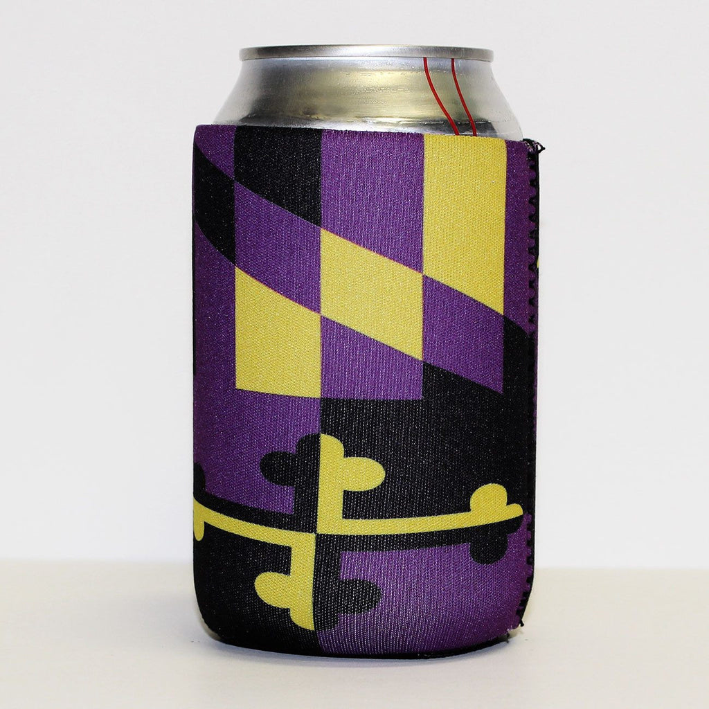 Baltimore Purple & Gold Maryland Flag / Koozie - Route One Apparel