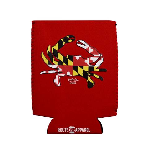 Maryland Full Flag Crab (Red) / Koozie