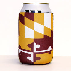 Burgundy & Gold Maryland Flag / Koozie - Route One Apparel