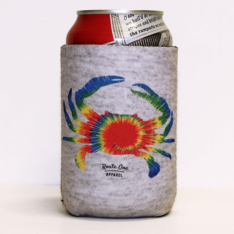 Rainbow Tie Dye Crab (Grey) / Koozie
