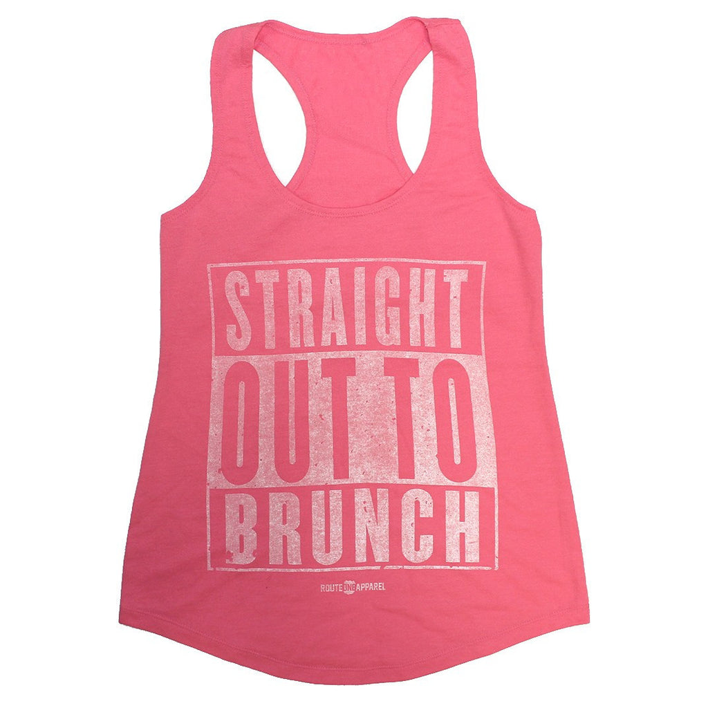 Straight Out To Brunch (Pink) / Ladies Racerback Tank