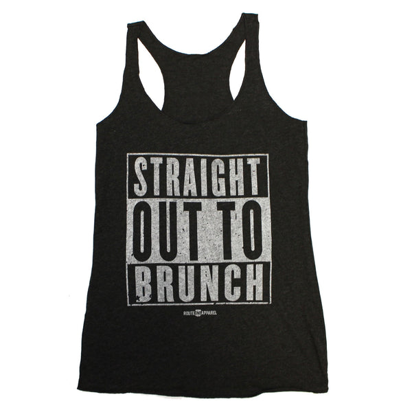Straight Out To Brunch (Vintage Black) / Ladies Racerback Tank