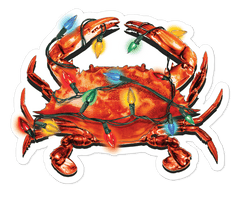 *PRE-ORDER* Christmas Crab Lights / Sticker