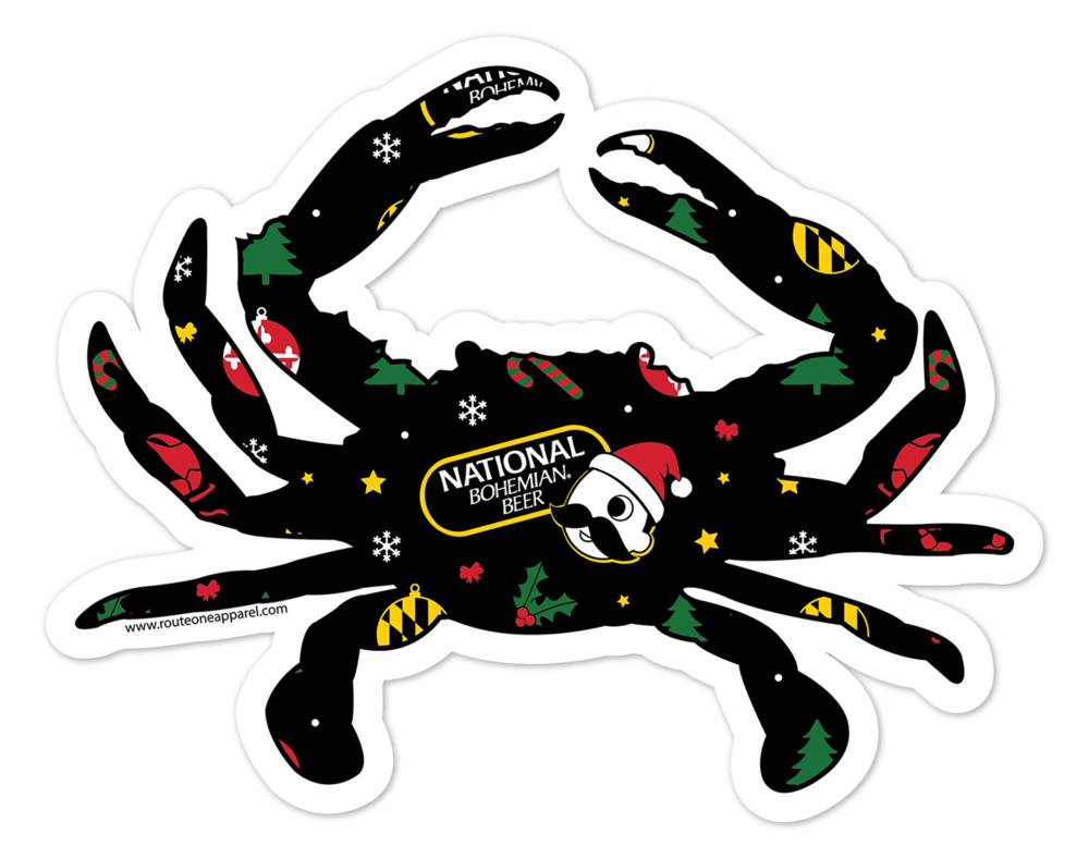 Natty Boh Christmas Crab / Sticker