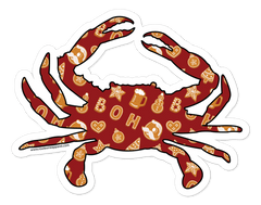 *PRE-ORDER* Natty Boh Christmas Cookie Crab (Red) / Sticker