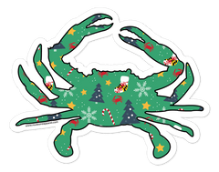 *PRE-ORDER* Holiday Crab / Sticker