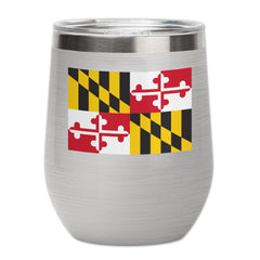 *PRE-ORDER* Maryland Flag Logo (Stainless) / Stemless Wine Tumbler (Estimated Ship Date: 4/20)