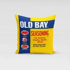 Old Bay Can / Throw Pillow
