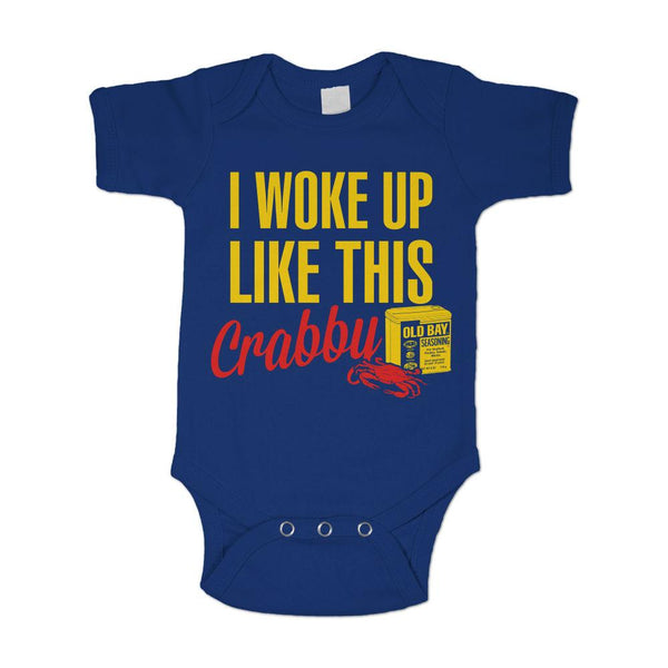 I Woke Up Like This: Crabby (Royal Blue) / Baby Onesie
