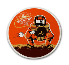 Natty Boh Baseball Catcher / Cork Coaster