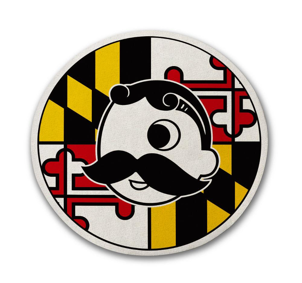Maryland Flag with Natty Boh Logo / Cork Coaster