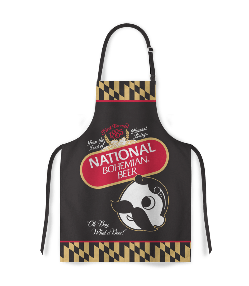 Natty Boh Can (Black)  / Apron