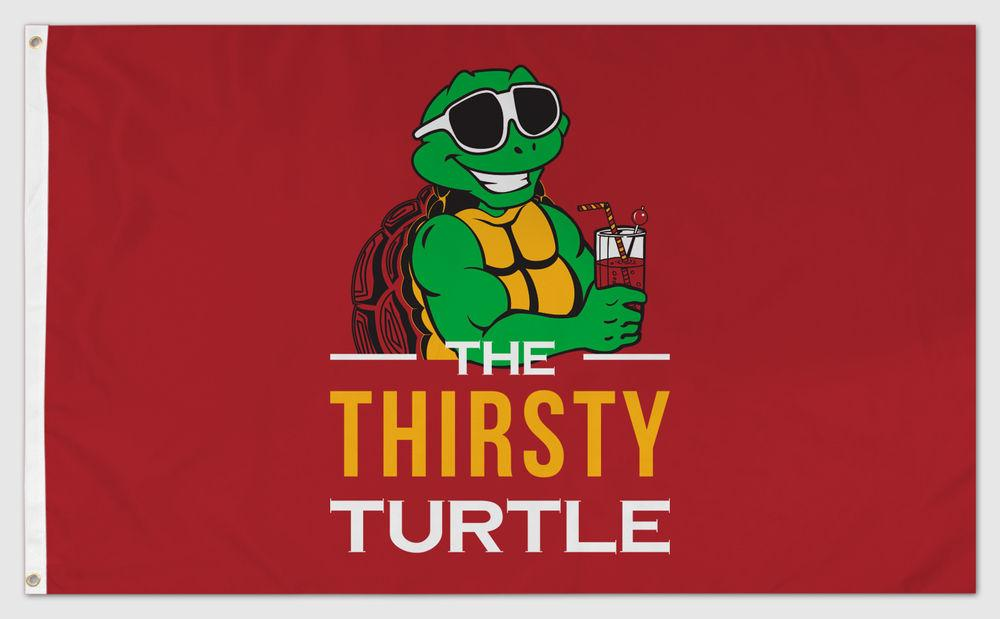 Thirsty Turtle (Red) / Flag