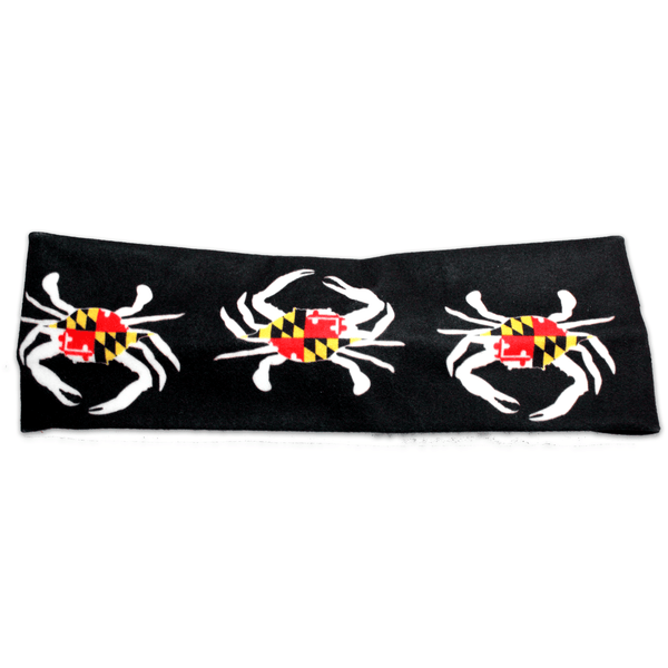 Large Maryland Flag Crab (Black) / Headband