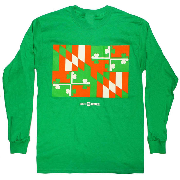 Irish Maryland Flag / Long Sleeve Shirt