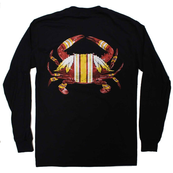DC Football Home Team Crab *Back Print* (Black) / Long Sleeve Shirt - Route One Apparel