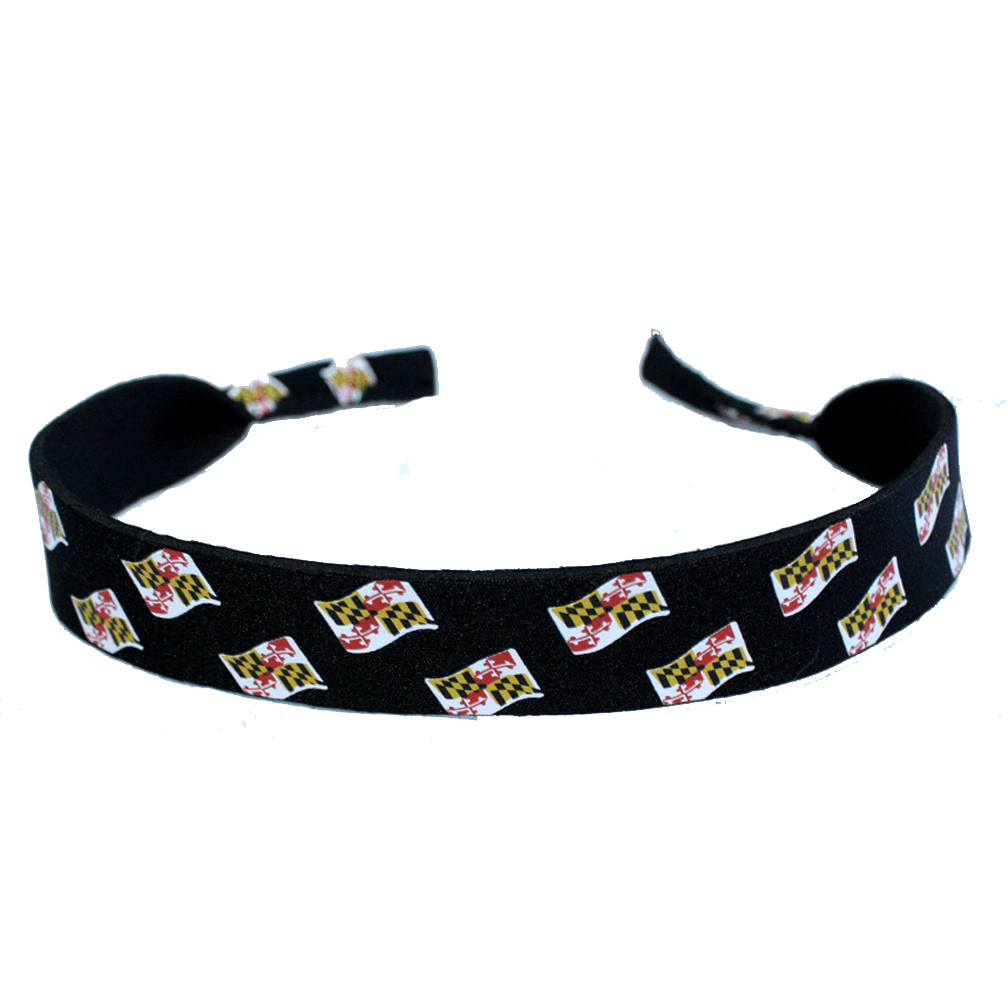 Waving Maryland Flag (Black) / Neoprene Croakie