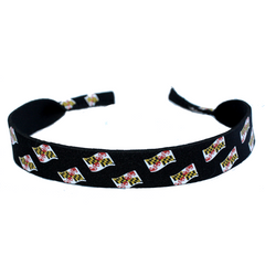 Waving Maryland Flag (Black) / Neoprene Sunglass Strap