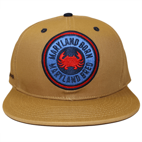 Maryland Born Maryland Bred (Tan) / Canvas Snapback Hat
